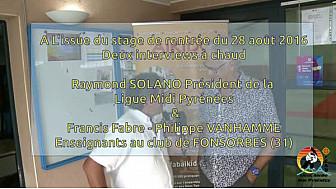 Ligue FFAB Aïkido Midi-Pyrénées : Interviews au club de Fonsorbes(31) au micro de Michel Lecomte #TvLocale_fr #Aikido #Fonsorbes #Stages