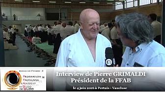 Pierre GRIMALDI Président de la FFAB Aïkido au micro de #TvLocale-fr durant la présence du Doshu en Provence les 4 et 5 juin 2016 #FFAB #Aikido