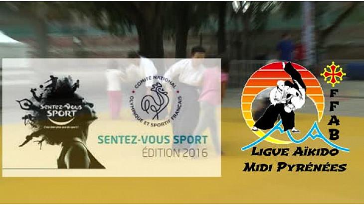 @SentezVousSport #Toulouse : le Président de la Ligue d'Aïkido Midi-Pyrénées Raymond SOLANO  présente la discipline Martiale au micro de Michel Lecomte de TvLocale
