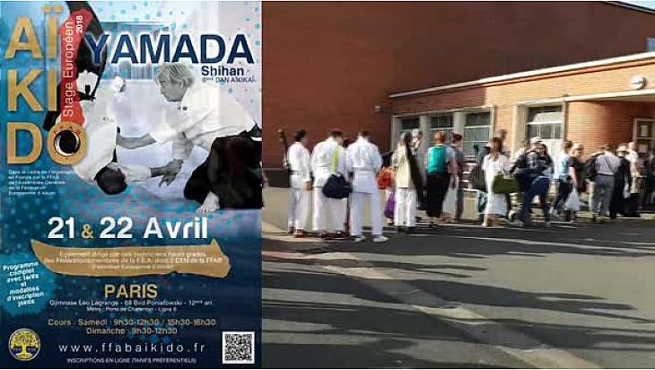 Stage Européen d'Aïkido organisé par la FFAB avec YAMADA Shihan les 21 et 22 avril 2018 à Paris @Localinfo.fr