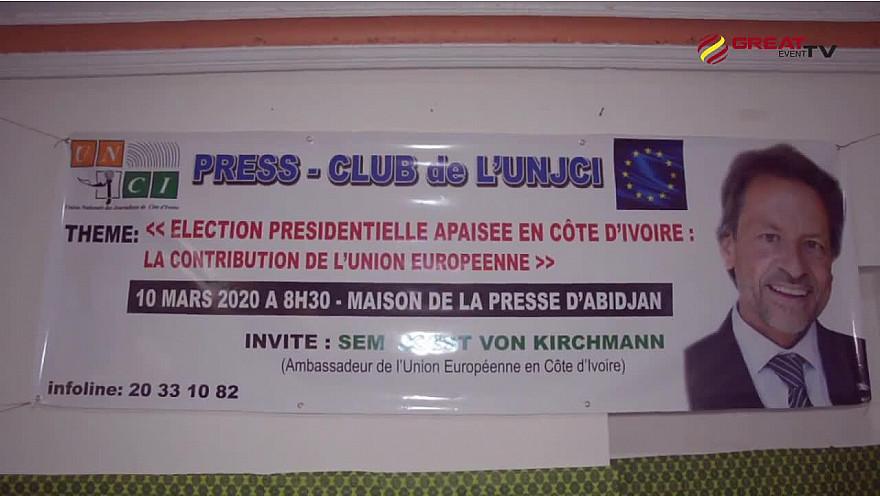 Premier Press-club de l'UNJCI de l'an 2020